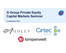 2018 capital markets presentations investor relations 3i group